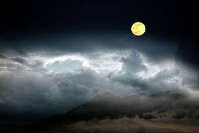 Photograph - Full Moon Over Borrego by Hugh Smith