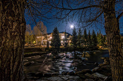 Photograph - Full Moon Over Breckenridge by Michael J Bauer