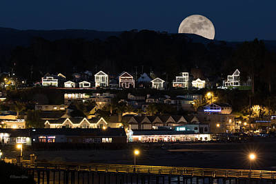 Photograph - Full Moon Over Capitola by Deana Glenz