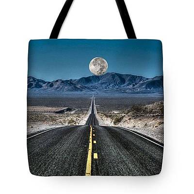 Photograph - Full Moon Over Death Valley-tote by Donna Kennedy