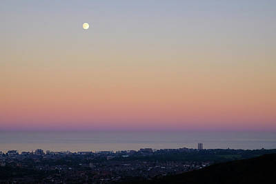 Photograph - Full Moon Over Eastbourne by Will Gudgeon
