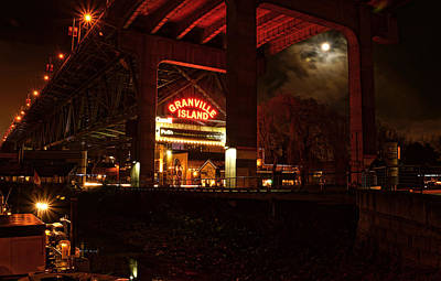Photograph - Full Moon Over Granville Island by Cameron Wood