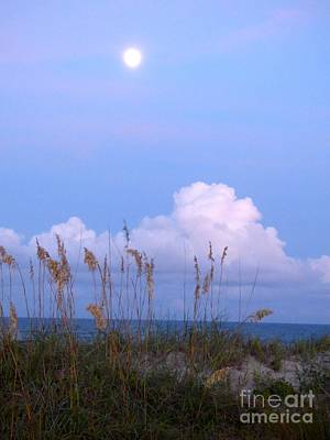 Photograph - Full Moon Over Hatteras by Jean Wright