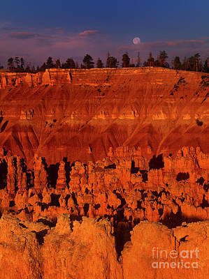 Photograph - Full Moon Over Hoodoos Silent City Bryce Canyon National Park Utah by Dave Welling