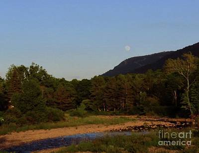 Photograph - Full Moon Over Hunter West by Donna Cavanaugh