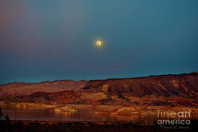 Photograph - Full Moon Over Lake Mead by David Arment