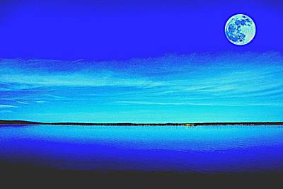 Royalty-Free and Rights-Managed Images - Full Moon over Over at dust by Adam Asar 2 by Adam Asar