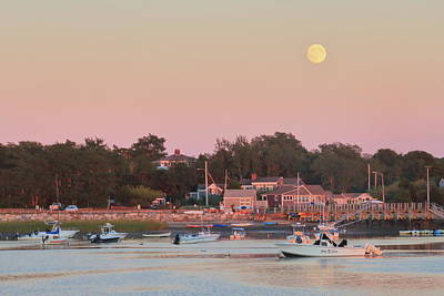 Photograph - Full Moon Over Pamet Harbor by John Burk