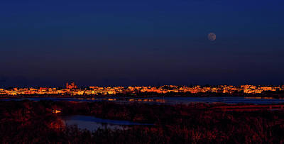 Photograph - Full Moon Over Paralimni Cyprus by Dimitris Vetsikas