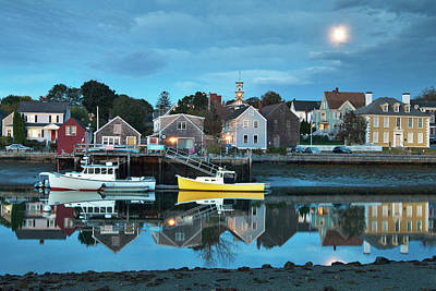 Photograph - Full Moon Over Portsmouth South End by Eric Gendron