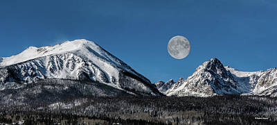 Photograph - Full Moon Over Silverthorne Mountain by Stephen Johnson
