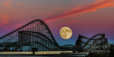 Photograph - Full Moon Over The Coaster by Nick Zelinsky