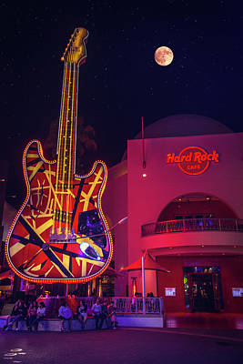 Photograph - Full Moon Over The Hard Rock Cafe by Lynn Bauer