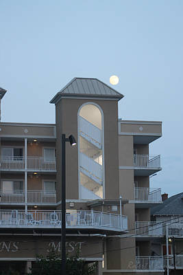 Photograph - Full Moon Over The Oceans Mist Building by Robert Banach