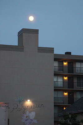 Photograph - Full Moon Over The Polynesian by Robert Banach
