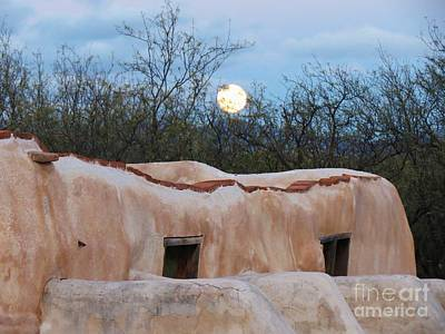 Photograph - Full Moon Over Tumacacori by Feva Fotos