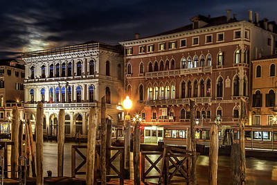 Super Moon Photograph - Full Moon Over Venice by Andrew Soundarajan