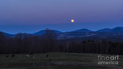 Photograph - Full Moon Over Vermont. by New England Photography