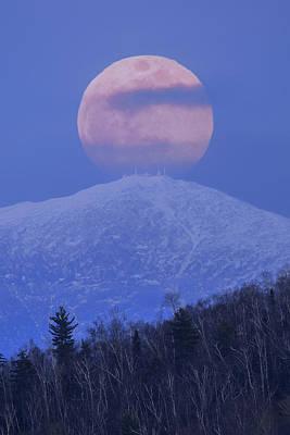 Photograph - Full Moon Over Washington Closeup by Chris Whiton