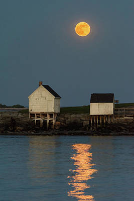 Photograph - Full Moon Over Willard Beach by Jesse MacDonald