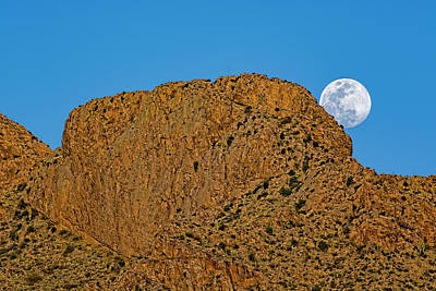Photograph - Full Moon Pusch Ridge H1848 by Mark Myhaver