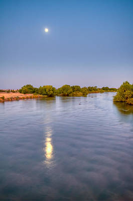 Photograph - Full Moon Reflection On Kern River by Connie Cooper-Edwards