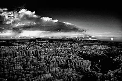Photograph - Full Moon Rise Over Bryce by Raymond Salani III