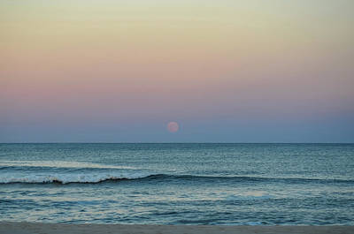 Photograph - Full Moon Rise Seaside Nj October 2013 by Terry DeLuco