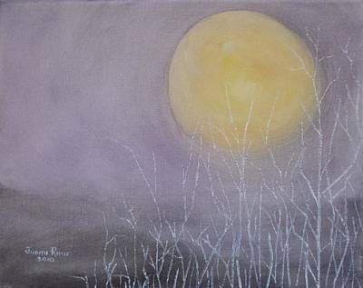 Painting - Full Moon Rising by Judith Rhue