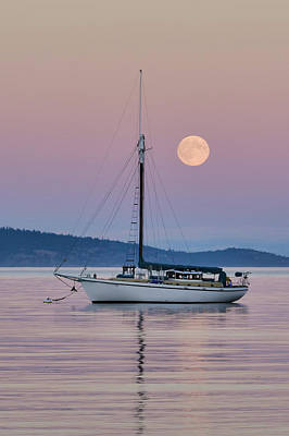 Photograph - Full Moon Rising by Keith Boone