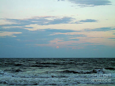 Photograph - Full Moon Rising Over The Ocean by D Hackett
