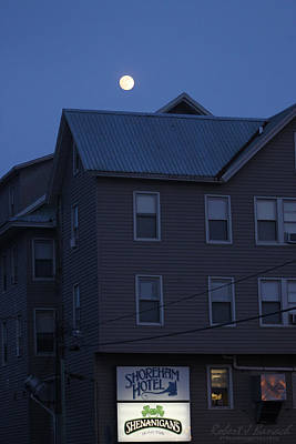 Photograph - Full Moon Rising Over The Shoreham Hotel by Robert Banach