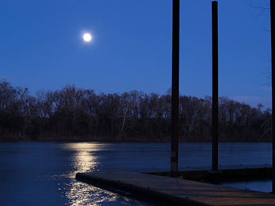 Photograph - Full Moon Rising Over Thomas Newman Landing by Charles Hite