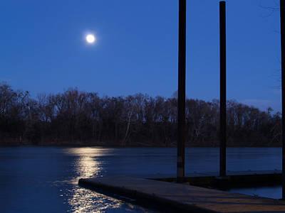 Photograph - Full Moon Rising Over Thomas Newman Landing by Charles Hite