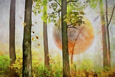 Photograph - Full Moon Rising Painting by Debra and Dave Vanderlaan