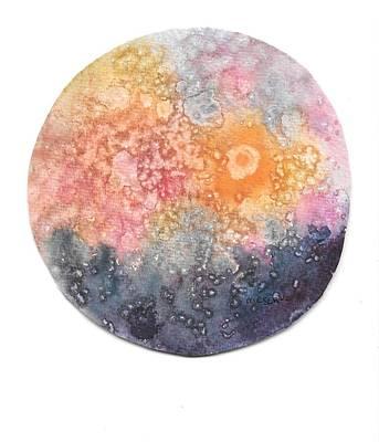 Painting - Full Moon Rising  by Roseann Meserve