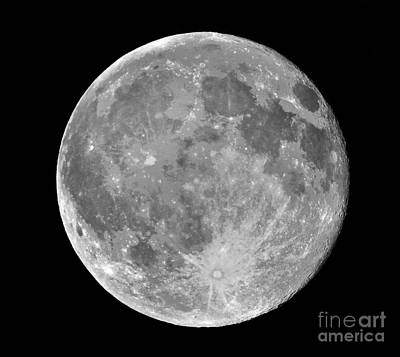 Photograph - Full Moon by Roger Becker