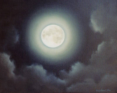 Painting - Full Moon by Suzn Art Memorial