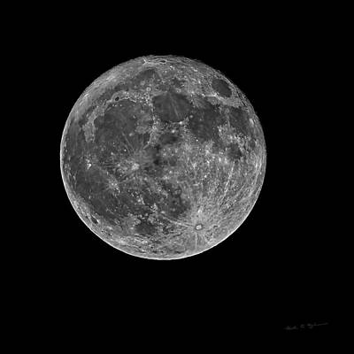 Photograph - Full Moon S23bw by Mark Myhaver