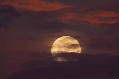Photograph - Full Moon Set by Jonathan Davison
