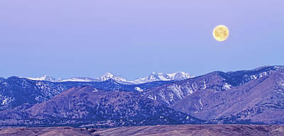 Photograph - Full Moon Setting Over The Colorado Rocky Mountains by James BO Insogna