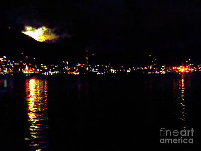 Painting - Full Moon Simpsons Bay by Expressionistart studio Priscilla Batzell
