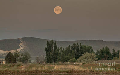 Full Moon Setting Art Print by Robert Bales
