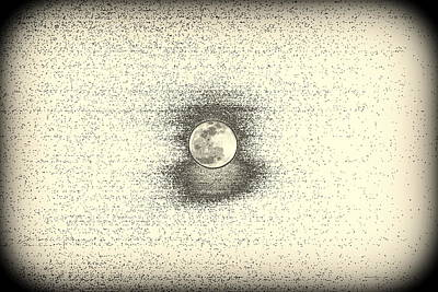 Photograph - Full Moon Sketch by Lisa Wooten