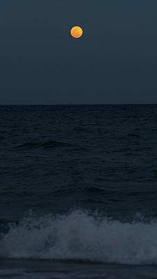 Photograph - Full Moon Splash Delray Beach Florida by Lawrence S Richardson Jr