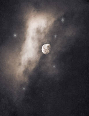 Photograph - Full Moon Starry Sky by Jennie Marie Schell