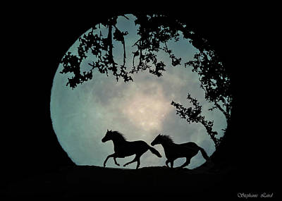 Full Moon Art Print by Stephanie Laird