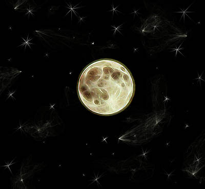 Digital Art - Full Moon Summer Fantasy by Aliceann Carlton