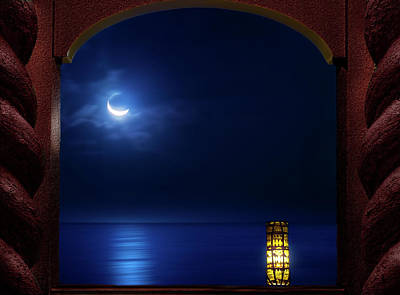 Moon Terrace Art Print by Mark Andrew Thomas