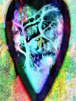 Mixed Media - Full Moon Valentine 3 by Dorothy Berry-Lound